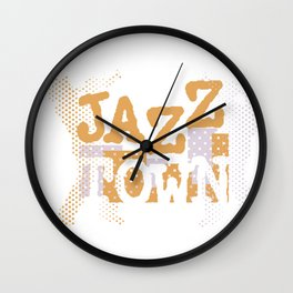Jazz Town Modern Style Design Wall Clock