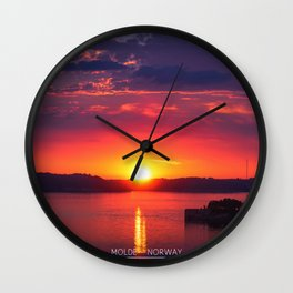 Last Light of the Day - Molde, Norway Wall Clock
