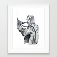 gondor Framed Art Prints featuring The Horn of Gondor by Christine Margeson