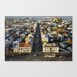 Downtown Reykjavík Tilt-Shift Canvas Print