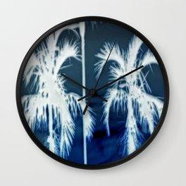 White Palms Over Lauderdale Wall Clock