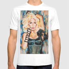 Lady singer  White MEDIUM Mens Fitted Tee