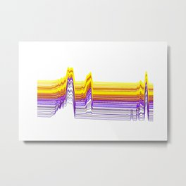 Fe Lines in Neon Colors Metal Print