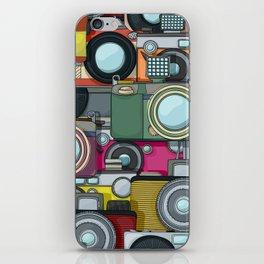 Vintage camera pattern iPhone Skin