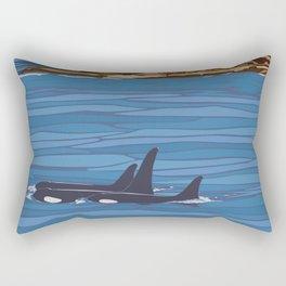 Vintage Poster - San Juan Islands National Monument, Washington (2015) Rectangular Pillow