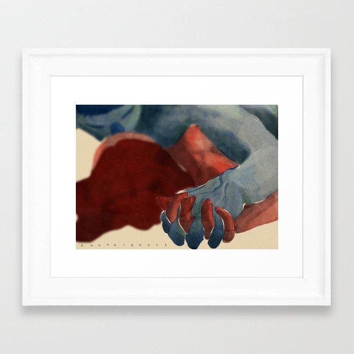 Wait for me Framed Art Print