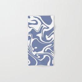 Soft Violet Liquid Marble Effect Design Hand & Bath Towel