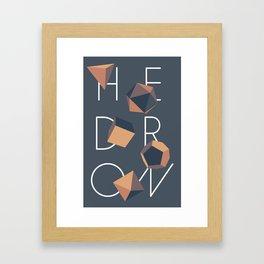 Hedron Framed Art Print