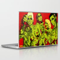 zombies Laptop & iPad Skins featuring SEXY ZOMBIES by Thomas B.- Rock Artwork