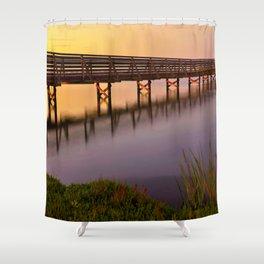 Bolsa Chica Wetlands Sunset Shower Curtain