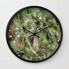 Baby's Breath Wall Clock