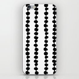 Linocut black and white dots pattern minimalist home decor nursery trendy dotted pattern iPhone Skin