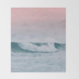 Pale ocean Throw Blanket