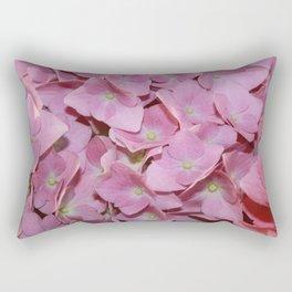 Pink Hydrangea Flowers Background Rectangular Pillow