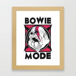 Bowie Mode  Framed Art Print