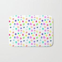 Watercolor confetti Bath Mat