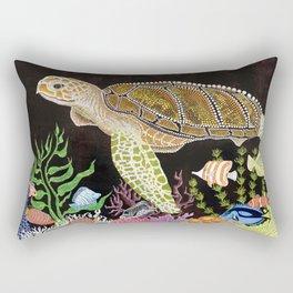 Sea Turtle, Reef Fish Rectangular Pillow