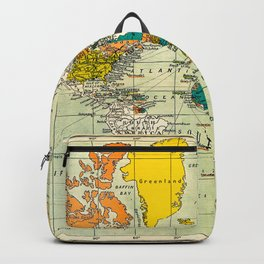 Map of the old world Backpack