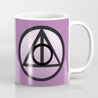 deathly hallows Mugs featuring Deathly Hallows by AriesNamarie