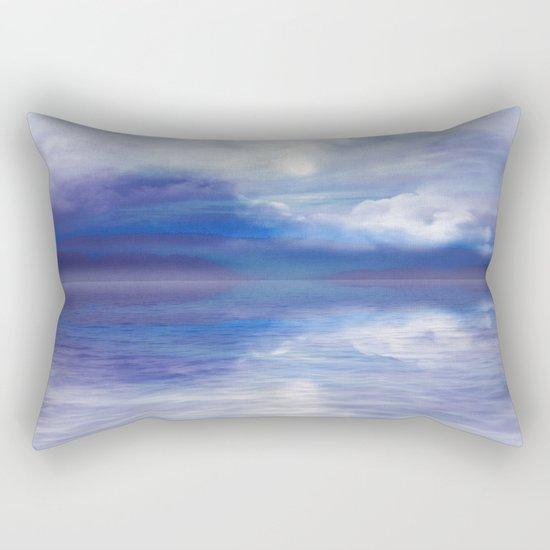 Sunset In Blue Rectangular Pillow