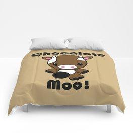 Chocolate Moo! Comforters