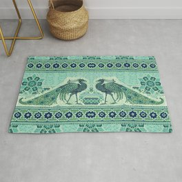 Peacocks Mosaic Rug