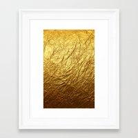 gold foil Framed Art Prints featuring Gold Foil by digital detours