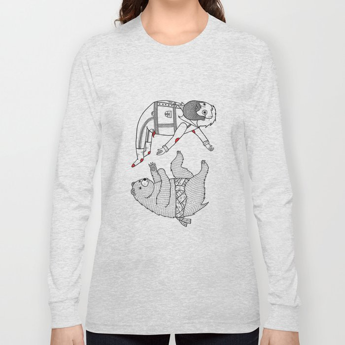 On the bear's uncontrollable urge to toss his master in the air Long Sleeve T-shirt