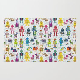 Robots in Space Rug