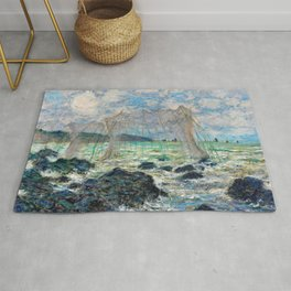 Fishing nets at Pourville - Claude Monet Rug