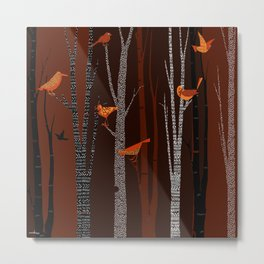 Winter Birds / 01 Metal Print