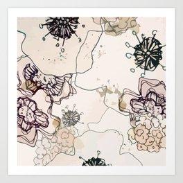 Pollination in Pastel Art Print
