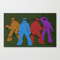 tmnt Canvas Prints featuring TMNT by Kaciel