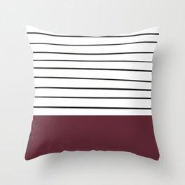 MARINERAS MAROON Throw Pillow