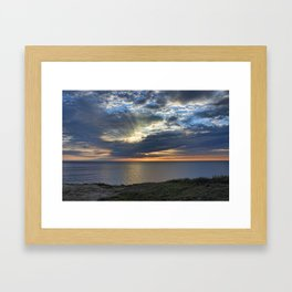 Sunsetting on Widemouth Bay Framed Art Print