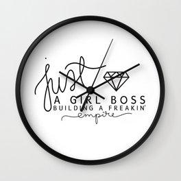 Girl Boss Empire Gold Wall Clock
