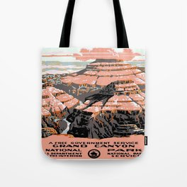 Vintage poster - Grand Canyon Tote Bag