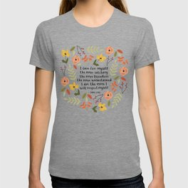 "Jane Eyre ""I Care For Myself"" Quote T-shirt"