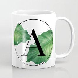 Monogram Leafs - Letter A Coffee Mug
