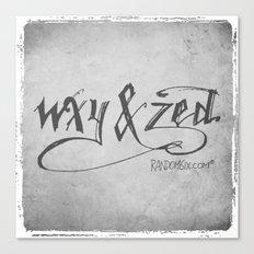 Handwriting: W, X, Y, & Zed Canvas Print