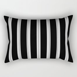Pattern. Black Lines Rectangular Pillow