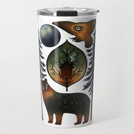 The Bear and the Barn Owl Travel Mug