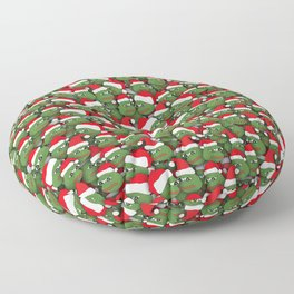 Sad christmas frogs pattern Floor Pillow
