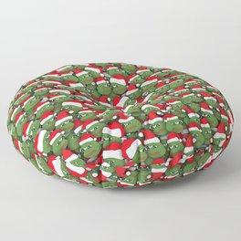 Sad christmas frogs pattern Floor Pillow