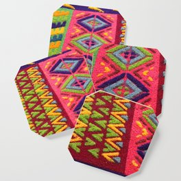 Colorful Guatemalan Alfombra Coaster