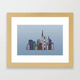 Frankfurt skyline Framed Art Print