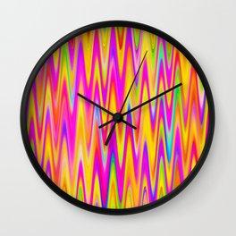 WAVY #1 (Multicolor Light) Wall Clock