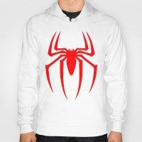 spider man Hoodies featuring Spider Man by Sport_Designs