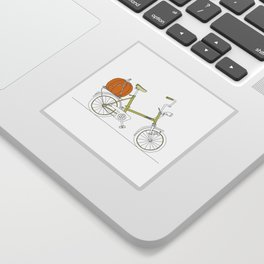 Bicycle with Pumpkin Sticker