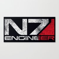 n7 Canvas Prints featuring N7 Engineer by Draygin82
